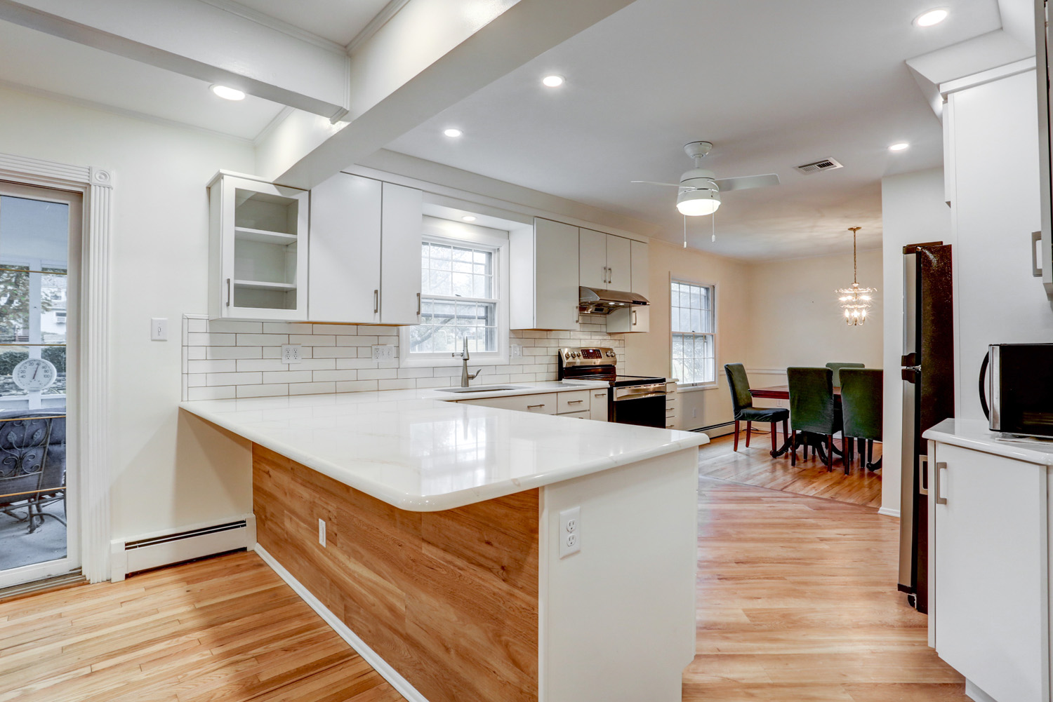 Kitchen remodel with white cabinets in Lancaster PA