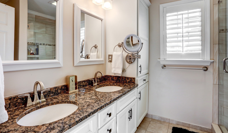 White cabinets in Lancaster bathroom remodel