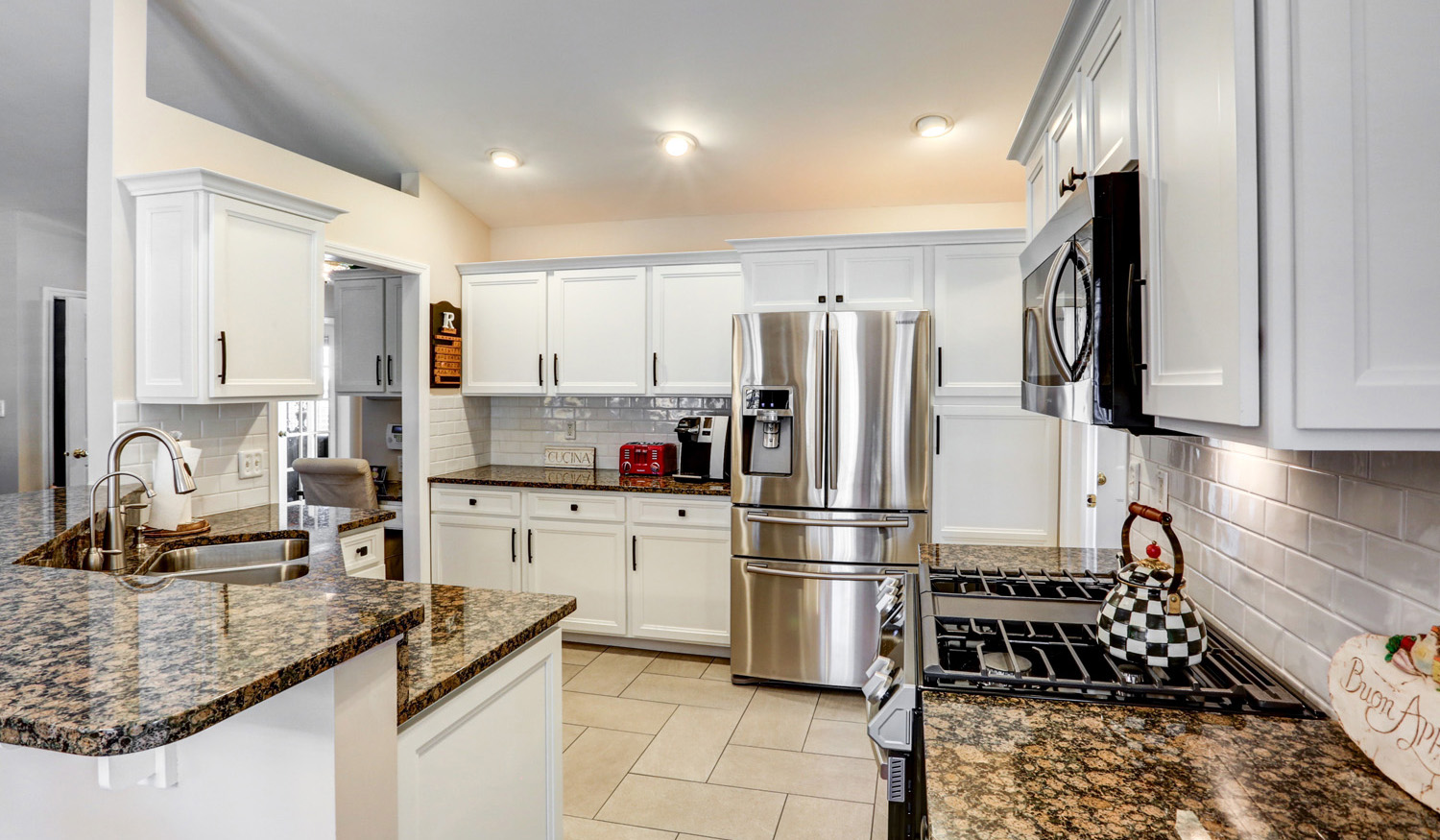 White painted cabinets in Manheim PA kitchen remodel