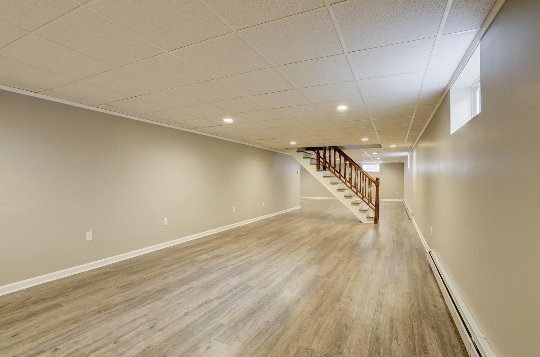 Millersville basement remodel with LVT flooring