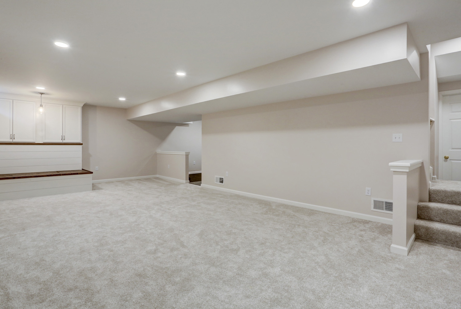 Large play room in Millersville finished basement remodel