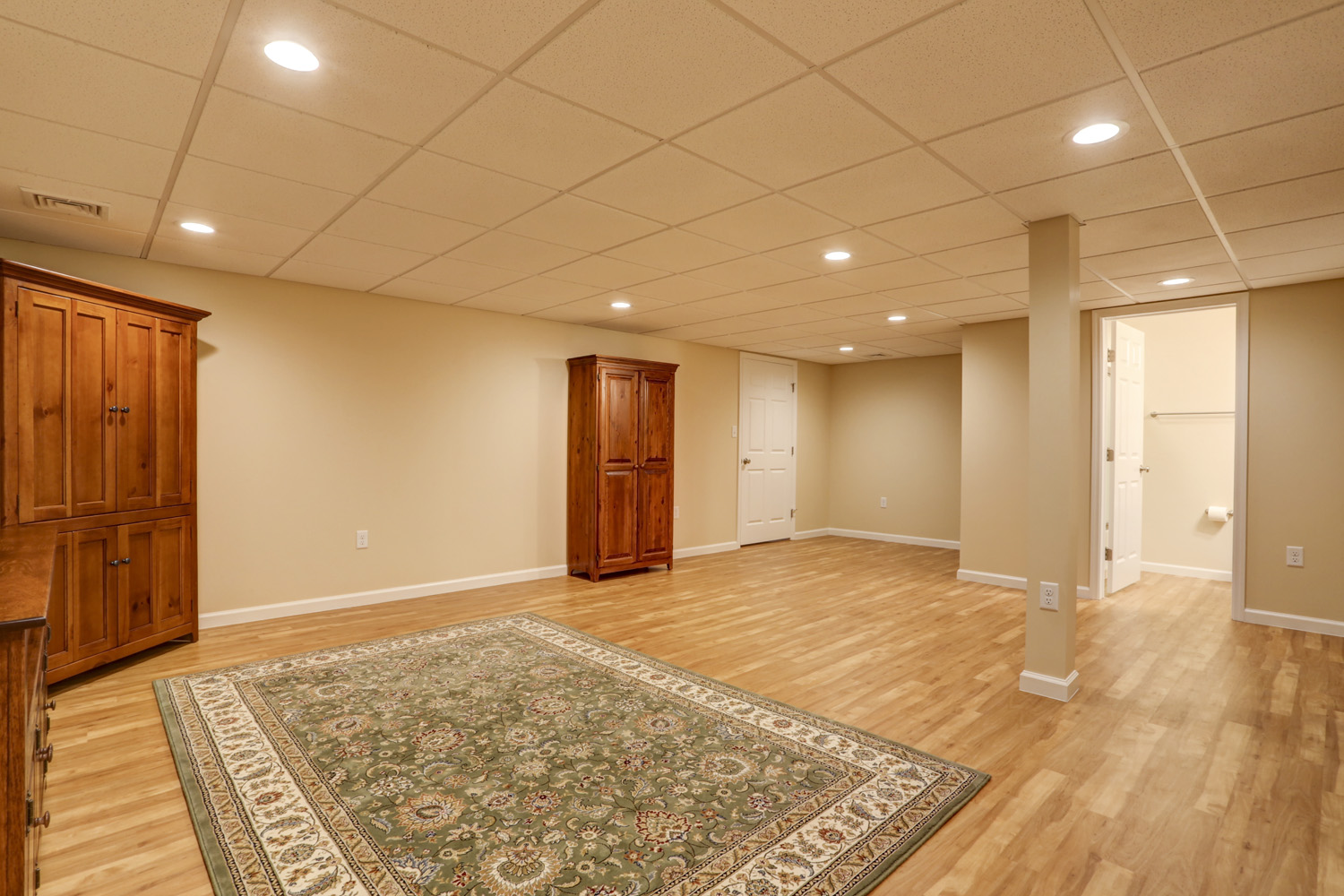 Lititz finished basement remodel with drop ceiling