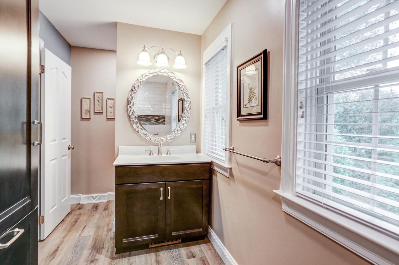Vanity in Conestoga Valley master bathroom remodel