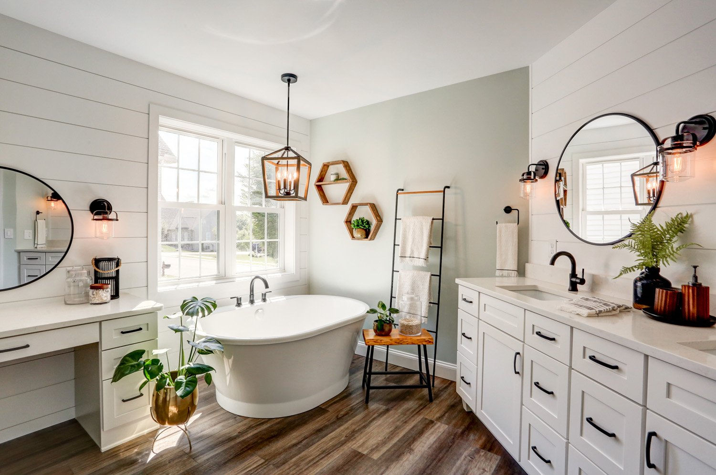 Freestanding tub in Landisville PA master bathroom remodel