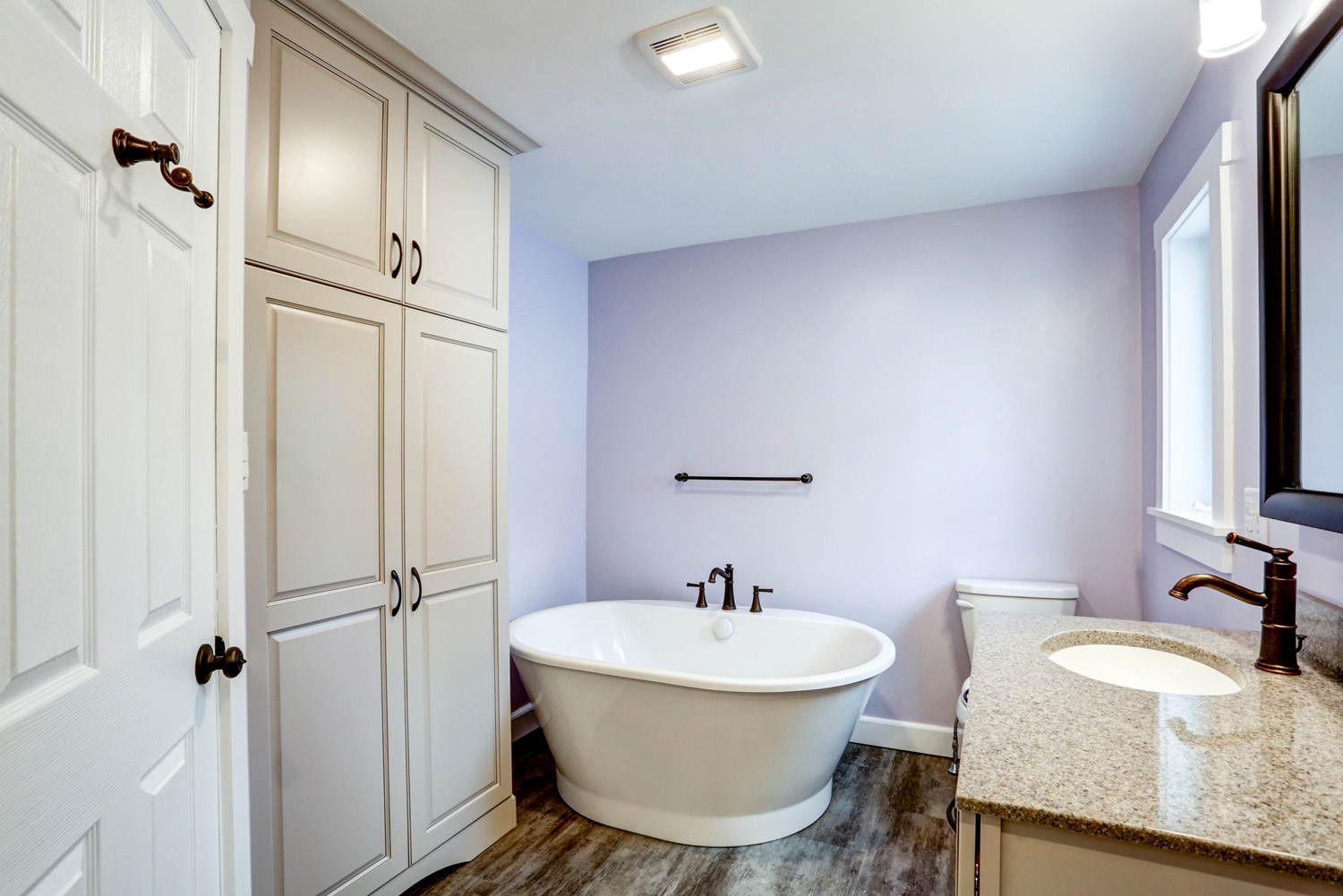 Bathroom with freestanding tub in Millersville PA