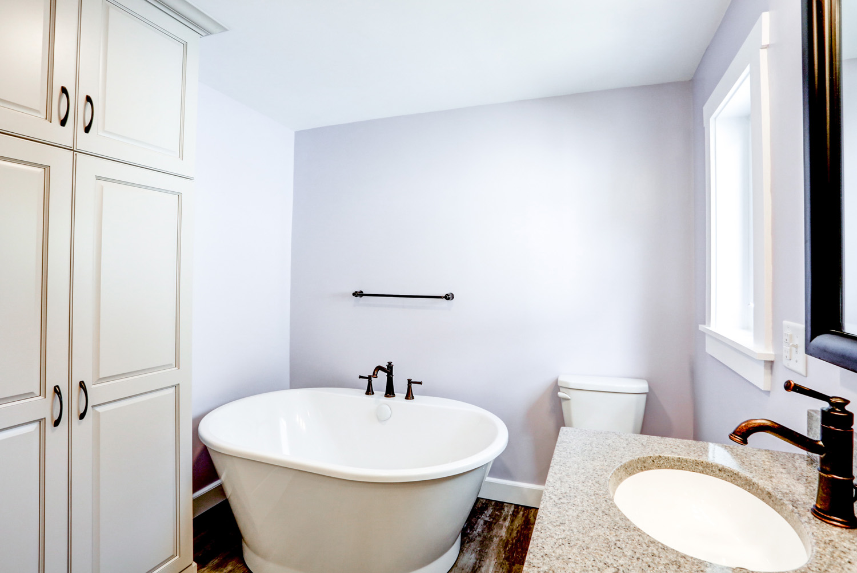 Freestanding tub in Millersville PA master bathroom remodel