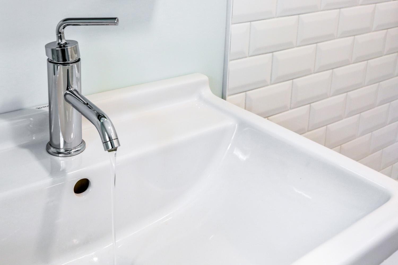 Modern faucet in Lancaster PA bathroom remodel