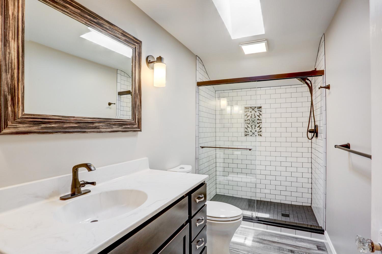 Tile shower in Lancaster bathroom remodel