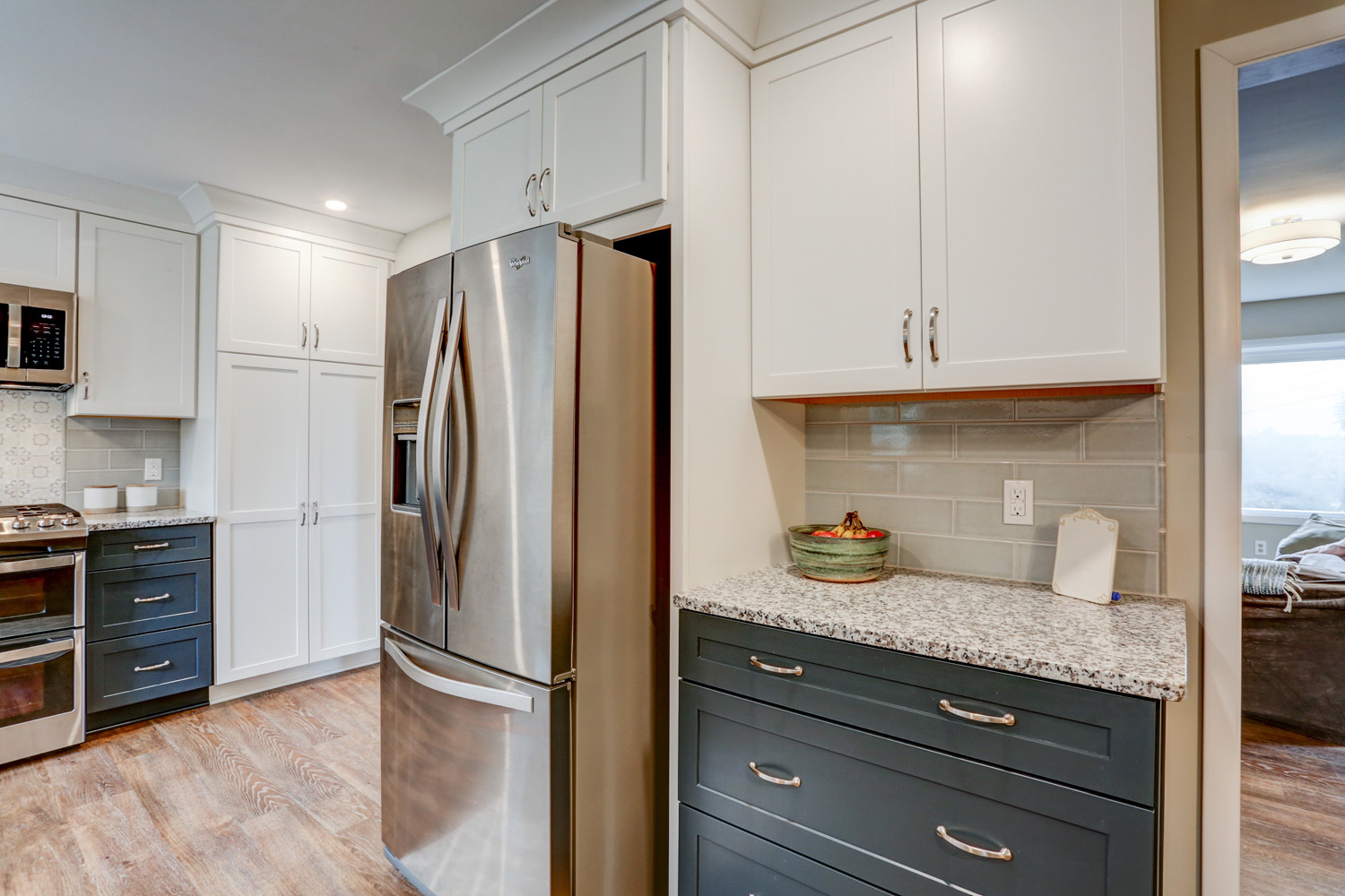 Warwick Township Kitchen Remodel with stainless steel refrigerator