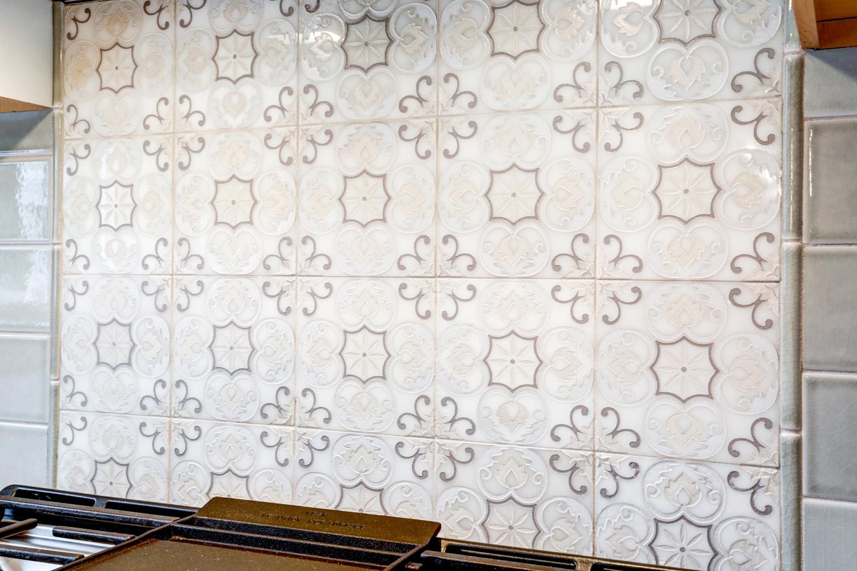 Designed Tile Backsplash in Warwick Township Kitchen Remodel