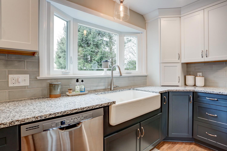 Farm sink in Lititz PA kitchen remodel