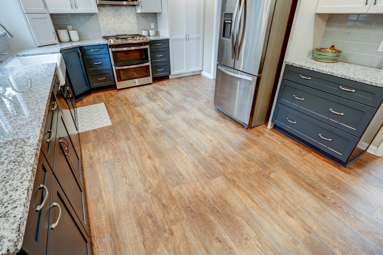 Warwick Township Kitchen Remodel with new vinyl plank flooring