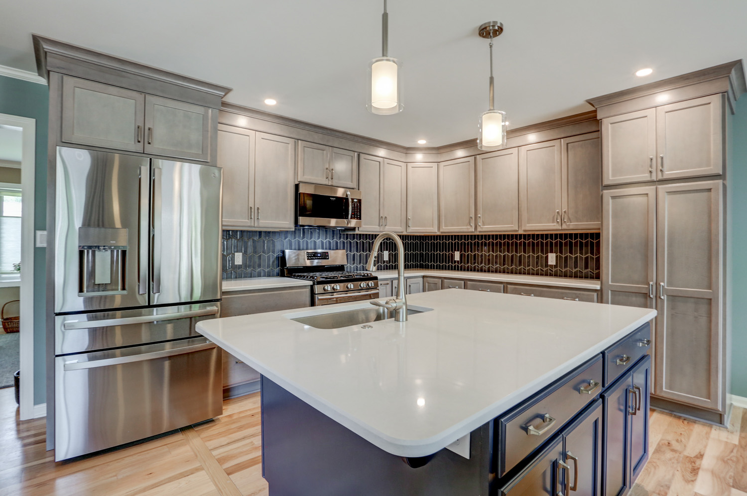 Blue island in Lancaster PA kitchen remodel