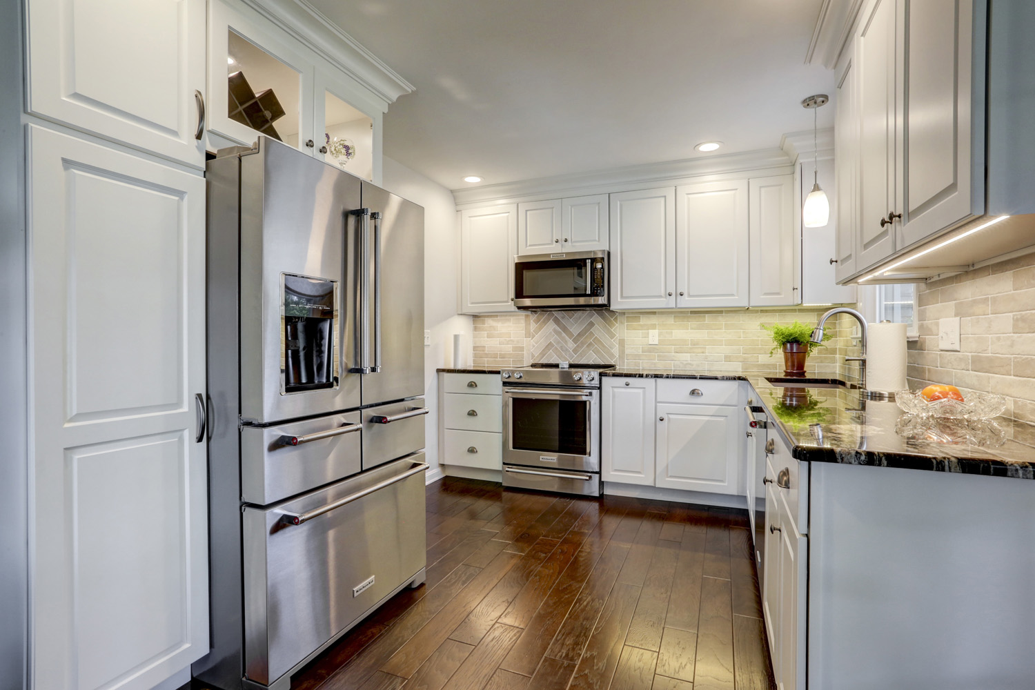 Kitchen remodel with wood floors in Lancaster PA