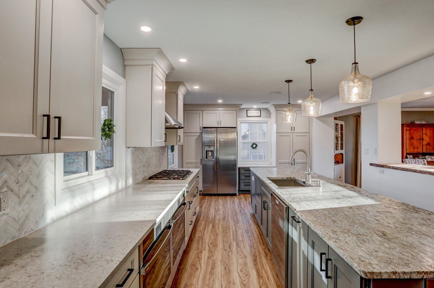 Long galley kitchen remodel in Lancaster PA