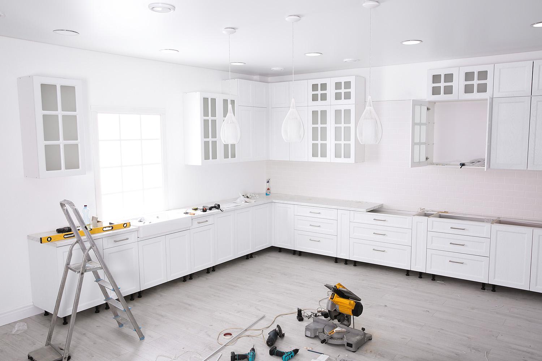 kitchen remodel under construction